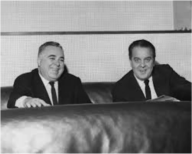 The producers of the 'new' Bond film,  Albert R. Broccoli and Harry Saltzman.