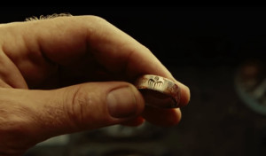 The 'famous' ring that caused a great amount of excitement when first seen during the teaser trailer.