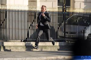 James Bond running