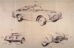Adam's sketch of the DB5 with gadgets