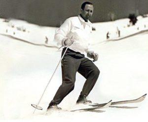 Dusko Popov skiing