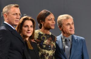 Daniel Craig, Barbara Broccoli, Naomi Harris, and Christolph Waltz