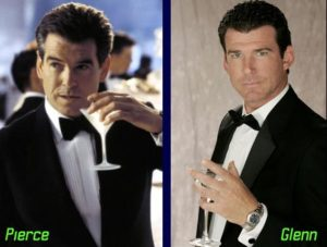 Pierce Brosnan and Glenn Reichle